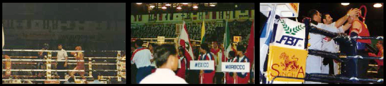 FIRST WORLD CHAMPIONSHIP ORGANIZED IN 1996, BANGKOK THAILAND.